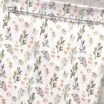 Хлопок Веточки, на белом фоне, размер 33х50 см, Unicornfabrics, LI000226