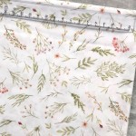 Хлопок Нежные веточки, на белом фоне, размер 33х50 см, Unicornfabrics, LI000227