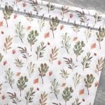 Хлопок Осенняя листва, на белом фоне, размер 33х50 см, Unicornfabrics, LI000228