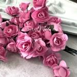 Розочка на проволоке, цвет Розовый, размер:20 мм., 5 шт., LI000242