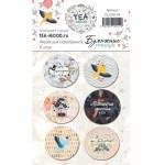 """Набор фишек """"Бумажные птицы"""", в наборе 6 штук, диаметр 2,5 см, TEA-MOOD, LI000250"""