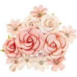 "Набор цветов из коллекции ""Apricot Honey"" Sweet Apricot, цвет: розовый, 12 шт. Prima Marketing, LI000251"