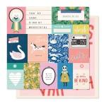 Лист бумаги двусторонний Daydream - Willow Lane Collection, 30,5х30,5см., плотный, Crate Paper, LI000258