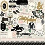 Стикеры-высечки Wedding Day, 30,5x30,5 см., Echo Park. LI000260