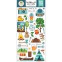 Чипборд самоклейка Summer Adventure, размер упаковки: 30х15см., (37 шт.) Carta Bella. LI000273