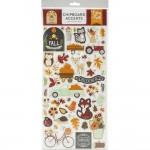 Чипборд самоклейка, матовые My Favorite Fall, размер упаковки: 30х15см., (45 шт.)  Echo Park, LI000284