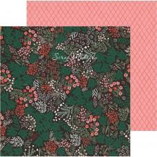 Лист бумаги двусторонний Sugar Plums, коллекция Merry Days — , 30,5х30,5 см., плотный, Crate Paper, LI000287