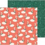 Лист бумаги двусторонний Twelve Days, коллекция Merry Days — , 30,5х30,5 см., плотный, Crate Paper, LI000288