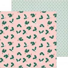 Лист бумаги двусторонний Merrily, коллекция Merry Days — , 30,5х30,5 см., плотный, Crate Paper, LI000289