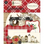 Высечки Christmas Ephemera, матовые. (33 шт.) Carta Bella. LI000295