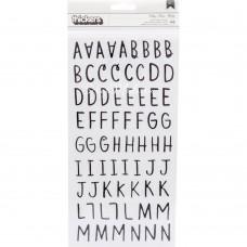 "Алфавит Black ""Merry Days Thickers Stickers"" от Crate Paper, LI000297"