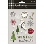Эмалевые стикеры Winterberry, размер упаковки 13х21 см, (17 шт.) My Minds Eye, LI000299