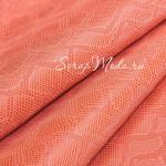 Кожзаменитель с тиснением под кожу змеи, цвет: Персиковый, отрез размером 32х45см., на тканной основе, толщина 0,7 мм., LI000364