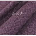 Кожзаменитель с тиснением под кожу змеи, цвет: Пурпурно-сиреневый, отрез размером 32х70см., на тканной основе, толщина 0,7 мм., LI000365