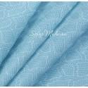 Кожзаменитель с тиснением под кожу змеи, цвет: Голубой, отрез размером 32х45см., на тканной основе, толщина 0,7 мм., LI000373