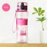 Бутылка пластиковая герметичная Dibe, розовая, 350 мл., MR000001