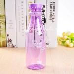 Фитнес бутылка прозрачная BPA FREE фиолетовая, 550 мл., MR000009