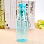 Фитнес бутылка прозрачная BPA FREE голубая, 550 мл., MR000011