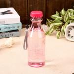 Фитнес бутылка прозрачная BPA FREE розовая, 550 мл., MR000013