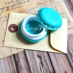 Шкатулочка mini, таблетница Макаронс, цвет тиффани, 42 мм., MR000091