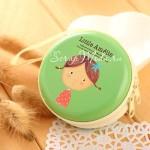 Футляр круглый на молнии для наушников, Девочка зелёная, размер 7 см., MR000133