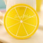 Подставка под кружку Лимон, силиконовый, размер 9 см.,  MR000153