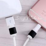 Защита от перелома зарядки на Iphone, чёрная  MR000185