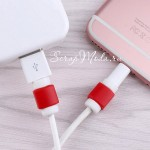 Защита от перелома зарядки на Iphone, красная MR000190