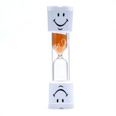 Песочные часы, песок оранжевый, размер 9,5х2,5 см., на 3 мин., MR000251