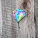 Значок акриловый Алмаз, размер 30x45 мм., Kawaii, MR000271