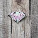 Значок акриловый Алмаз 2, размер 30x45 мм., Kawaii, MR000274