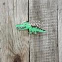 Значок акриловый Крокодил, размер 55 мм., Kawaii, MR000285