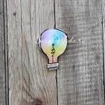 Значок акриловый Лампочка, размер 55 мм., Kawaii, MR000289