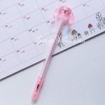 Ручка гелевая, Собачка, розовая, стержень черный 0,5мм., 16 см., MR000344