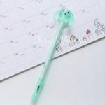 Ручка гелевая, Собачка, салатовая, стержень черный 0,5мм., 16 см., MR000346