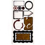 Cтикеры Detour Journaling, Glitz Design, 300x150мм.