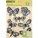 Наклейки- Бабочки 3D 187 , Studio 112, 50 мм., 7 штук, K&Company