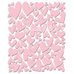 Наклейки Baby chloe PINK HEARTS, размер листа 125х150, 89 шт., Pretty Little Studio, NA000274
