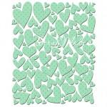 Наклейки Baby charis MINT HEARTS, размер листа 125х150, 89 шт., Pretty Little Studio, NA000275