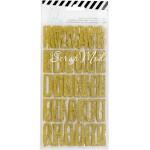 Набор стикеров алфавит Magnolia Jane, золотой глиттер, 99 шт., Heidi Swapp, NA000287