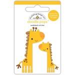 Стикер 3D  Jenny & Jojo Giraffe - At The Zoo, высота 6,4см., Doodlebug, NA000288