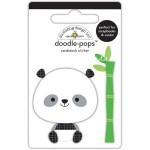 Стикер 3D  Polly Panda, высота 6,4см., Doodlebug, NA000294