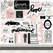 Стикеры-наклейки Wedding Bliss, 30,5x30,5 см., WB129014, Echo Park , NA000315