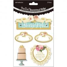 3D наклейки Bella! Wedding Glitter & Foil 3D Stickers, 5 шт., Fynmark, NA000316