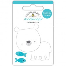Стикер 3D Patric polar Bear, высота 6,4см., Doodlebug, NA000318