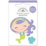 Стикер 3D mini Mermaid с эпоксидными элементами, высота 6 см., Doodlebug, NA000320