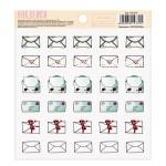 Наклейки для ежедневника Письма, размер 13,5х10см, АртУзор, NA000335