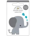 Стикер 3D  Слоник - At The Zoo, высота 6,4см., Doodlebug, NA000343