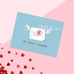Открытка-комплимент «От всего сердца», конверт с крыльями, размер 8х6см, OT000001