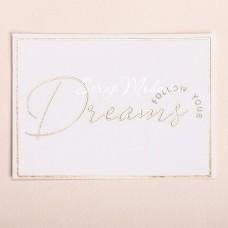 Поздравительная открытка на акварельном картоне с тиснением Dreams, 8×6 см, OT000008